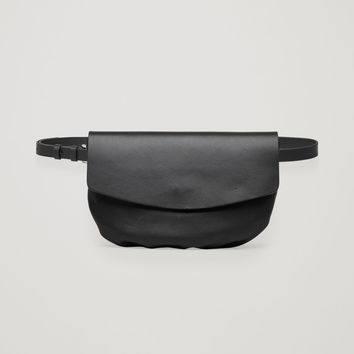 LEATHER BELT BAG - Black - Bags - COS US