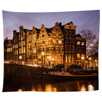 Amsterdam Canal Houses Tapestry