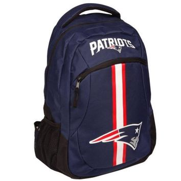 * New England Patriots Action Backpack Back Pack School Book Gym Bag