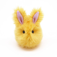 Daffodil the Fluffy Yellow Easter Bunny Rabbit Stuffed Toy Plushie Animal - 4x5 Inches Small Size