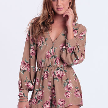 Roses In Winter Romper