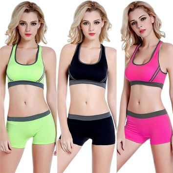 Breathable Seamless Sports Bras and Stretch Shorts