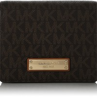 Michael Kors Jet Set Card Holder- Brown