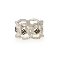Armenta New World Open Circle Diamond Band Ring