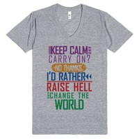 Change The World Top-Unisex Athletic Grey T-Shirt
