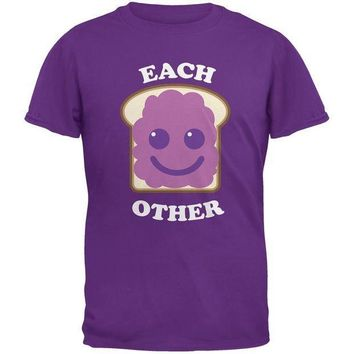 ICIKIS3 Couples Jelly Sandwich Purple Adult T-Shirt