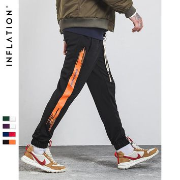 Men Occident Retro Hip Hop Trousers Urban School Style Sweatpants Side Stripe Track Pants Unisex Casual Pants