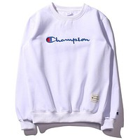 Champion Fashion Classic Embroidery Logo Hooded Sport Top Sweater Sweatshirt