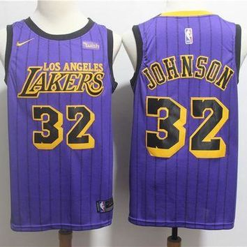 PEAP 2019 LA Lakers 32 Magic Johnson City Edition Jersey