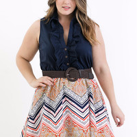 Plus Size Danielle Daydream Poplin Dress