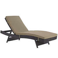Peer Outdoor Chaise Espresso - More Colors Available