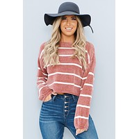 Wrapped In Love Sweater (Pink/White)