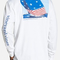 Men's Vineyard Vines 'American Flag Sails' Long Sleeve Graphic T-Shirt,