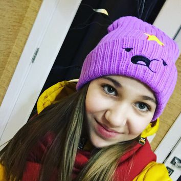 2016 winter knitting hat Cartoon wool hat