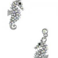 Crystal Seahorse Earrings