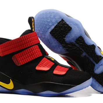 Nike LeBron Soldier 11 EP Black/Red/Yellow Basketball Shoes US7-12