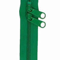YKK Handbag Zipper 30 inches Jewel Green Double Slide