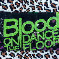 BLOOD On THe DANCE FLOOR - Upcycled Concert/ Band T-shirt Makeup/ Pencil Pouch - ooak