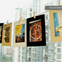 Free shipping 10 PCS 6 inch vintage frame photo DIY photo frames for picture wedding photo frame 3 colors photo frame wall