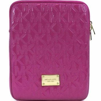 Michael Kors Pink Zinnia Patent Leather Monogram Ipad Tablet Case Sleeve  Michael Kors bag