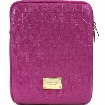 Michael Kors Pink Zinnia Patent Leather Monogram Ipad Tablet Case Sleeve