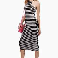 On The Line Midi Dress