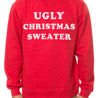 The Ugly Christmas Crewneck Sweatshirt in Red