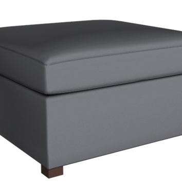 Color Customizable Leather Square Ottoman Harmony Earth Designs by Lazar