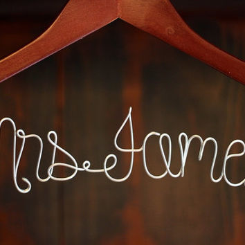 Personalized Custom Bridal Hanger, Brides Hanger, Bride, Name Hanger, Wedding Hanger, Personalized Bridal Gift