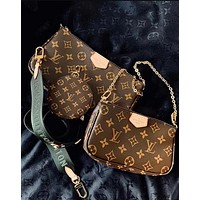 LV Louis Vuitton Fashion New Monogram Print Leather Shoulder Bag Crossbody Bag