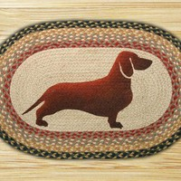 Dachshund Oval Patch Rug