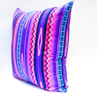 Pink and Purple Pillow Covers, Tribal Pillows Covers, Colorful Pillow Covers, Bohemian Decor, Boho Bedding, Aztec Cushion Cover 20x20 Inch