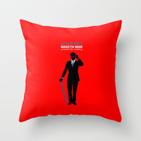 "Kingsman The Secret Service - Galahad ""Manners Maketh Man"" Throw Pillow by Snarky Shark"
