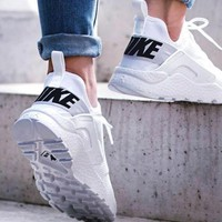 NIKE AIR HUARACHE Women Fashion Running Sports Shoes white H 8-4