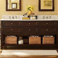 Classic Double Sink Console - Espresso finish | Pottery Barn