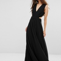 ASOS Petite | ASOS PETITE Side Cut Out Maxi Dress at ASOS