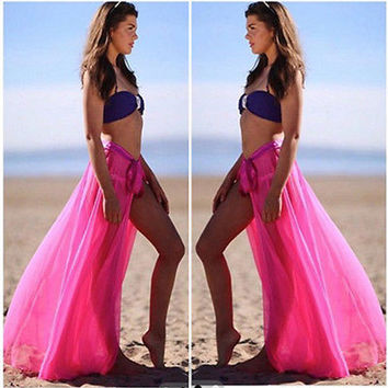 Sexy Summer Sarong Rose/Pink Beach Bikini Cover-up