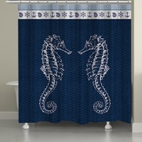 Seahorses Shower Curtain