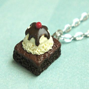 Brownie Sundae Necklace