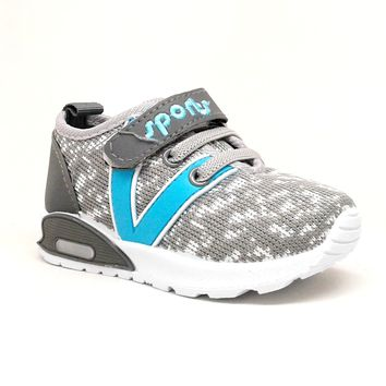Toddler Boy Grey Sneaker with Lights