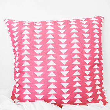 Triangle Printed Pillow Case - Coral
