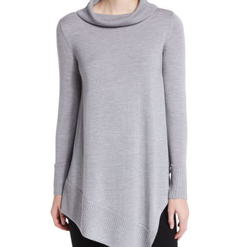 Long-Sleeve Merino Turtleneck Tunic, Petite, Size: