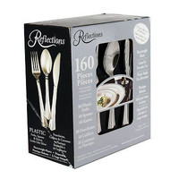 Reflections 160-Piece Plastic Silverware New