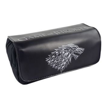 TV Series Game of Thrones: The Badge of House Stark Pencil Case Bag Student Stationery Pouch/Cosmetic/Travel Makeup/Storage Bag