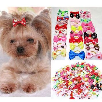 Cute Ribbon Dogs Cats Hair Bows