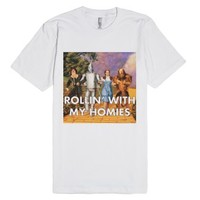Rollin' With My Homies Wizard Of Oz-Unisex White T-Shirt