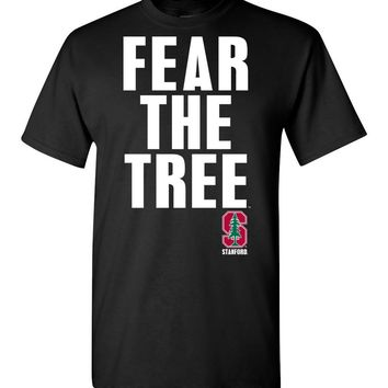Official NCAA Stanford University Cardinal SU The Stanford Tree ALL RIGHT NOW! Fear The Tree Short-Sleeve T-Shirt
