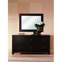 Lifestyle Solutions 500 Dresser w/ Mirror in Cappuccino