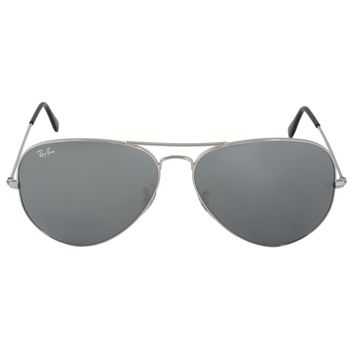 Ray-Ban Aviator Large Metal Sunglasses RB3025 00340 62 | Silver Frame | Silver Mirror Lenses