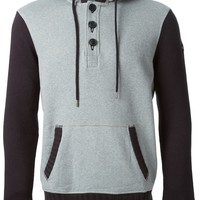 Armani Jeans two-tone knitted sweater